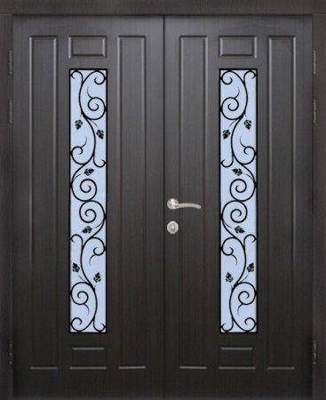 Двухлистовая металлическая дверь - 17-33
