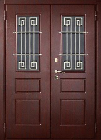 Двухлистовая металлическая дверь - 17-34