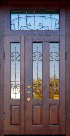 Двухлистовая металлическая дверь - 17-36