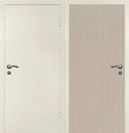 Двухлистовая металлическая дверь - 17-37