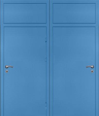 Двухлистовая металлическая дверь - 17-38
