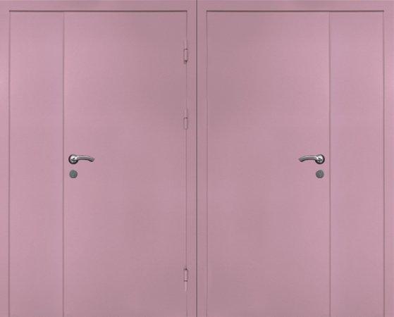 Двухлистовая металлическая дверь - 17-39