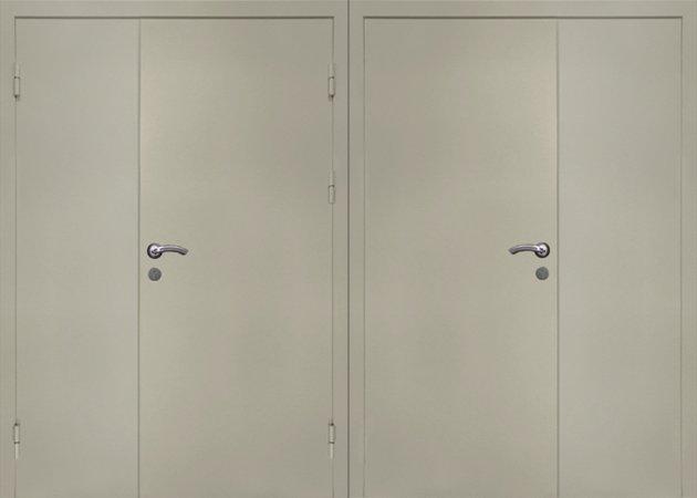 Двухлистовая металлическая дверь - 17-40