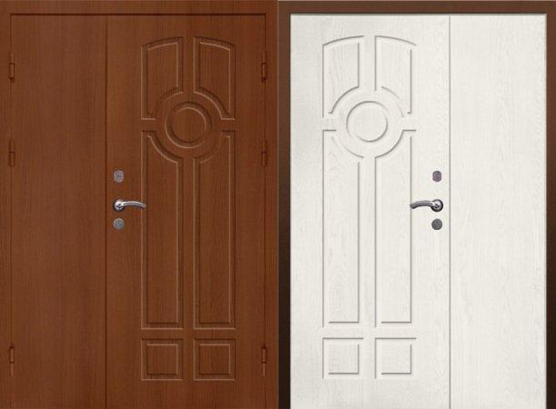 Двухлистовая металлическая дверь - 17-41
