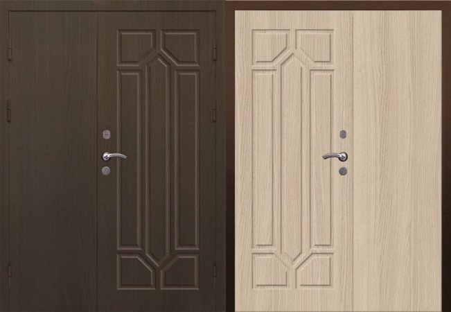 Двухлистовая металлическая дверь - 17-42