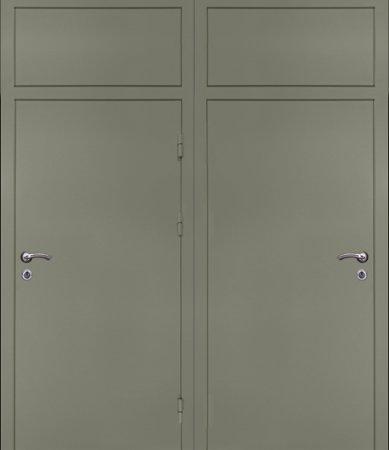 Двухлистовая металлическая дверь - 17-43