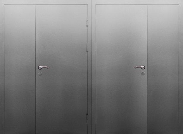 Двухлистовая металлическая дверь - 17-44