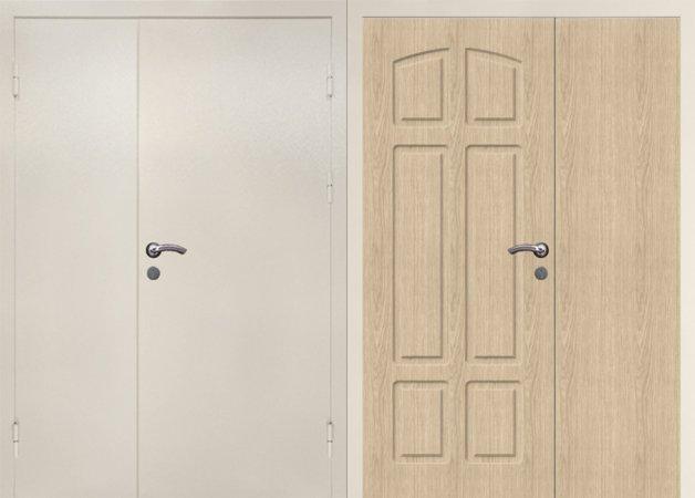 Двухлистовая металлическая дверь - 17-45