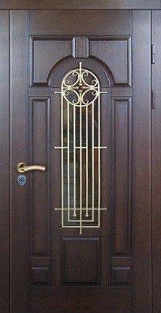 Двухлистовая металлическая дверь - 17-48