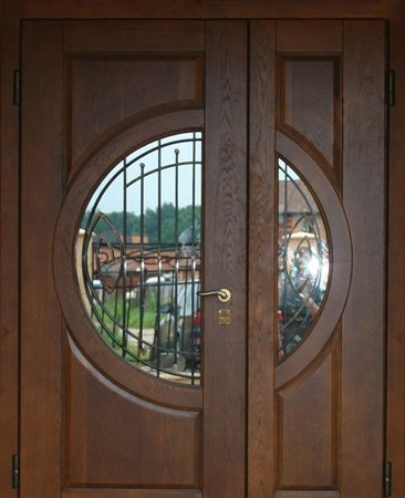 Двухлистовая металлическая дверь - 17-49
