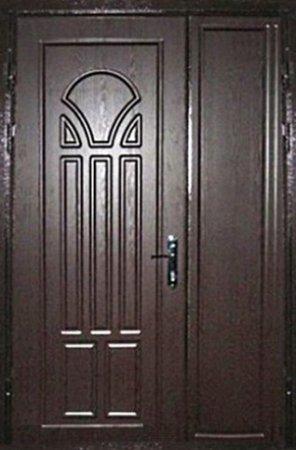 Двухлистовая металлическая дверь - 17-52