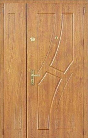 Двухлистовая металлическая дверь - 17-53