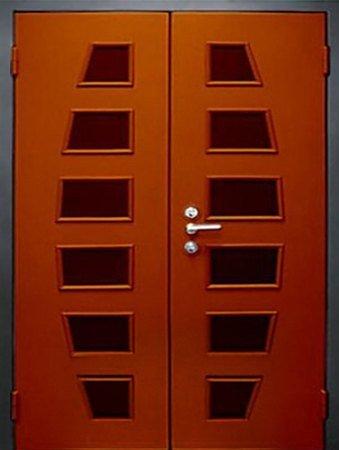 Двухлистовая металлическая дверь - 17-55