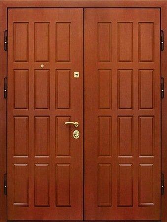 Двухлистовая металлическая дверь - 17-56