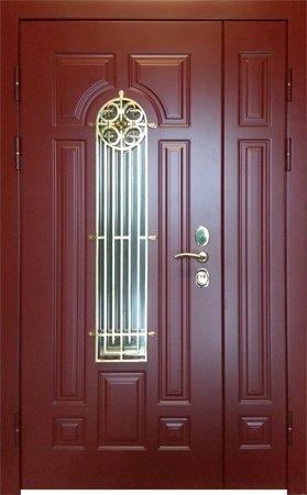 Двухлистовая металлическая дверь - 17-59