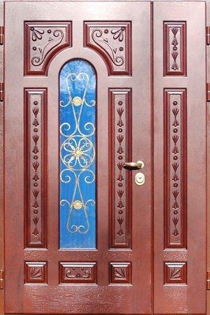 Двухлистовая металлическая дверь - 17-60