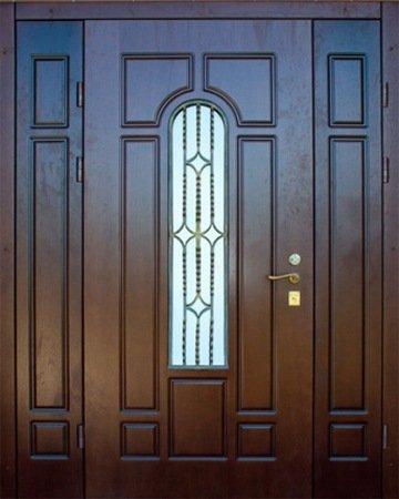 Двухлистовая металлическая дверь - 17-62