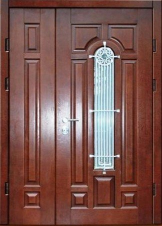 Двухлистовая металлическая дверь - 17-63