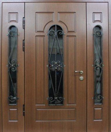 Двухлистовая металлическая дверь - 17-64