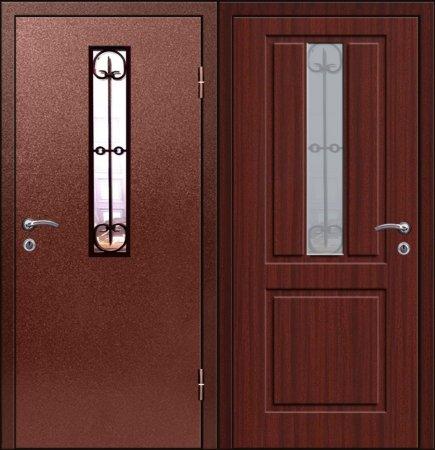 Двухлистовая металлическая дверь - 17-70