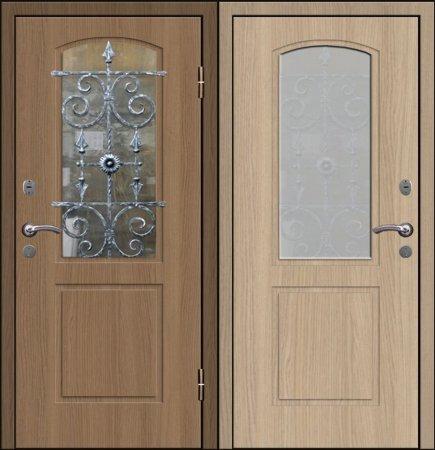 Двухлистовая металлическая дверь - 17-71