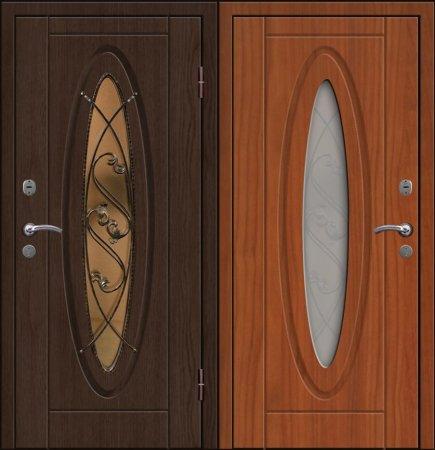 Двухлистовая металлическая дверь - 17-72