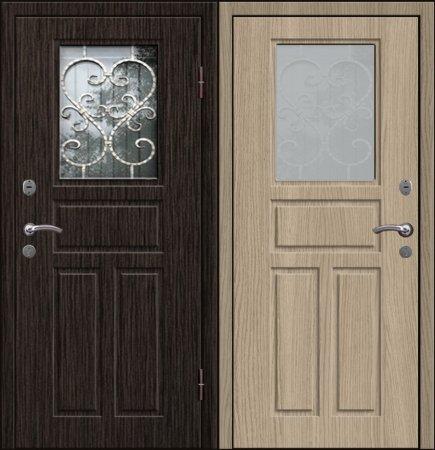 Двухлистовая металлическая дверь - 17-73