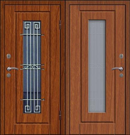Двухлистовая металлическая дверь - 17-74