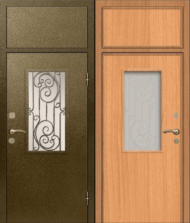 Двухлистовая металлическая дверь - 17-75