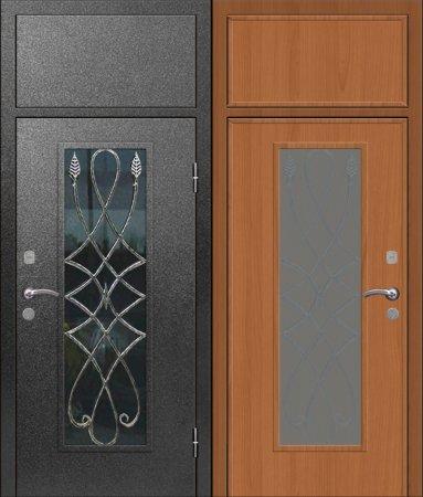Двухлистовая металлическая дверь - 17-76