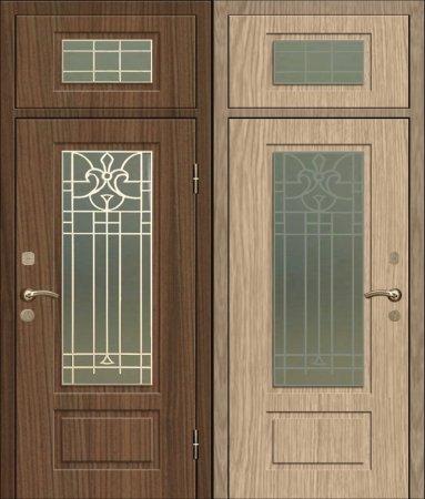 Двухлистовая металлическая дверь - 17-78