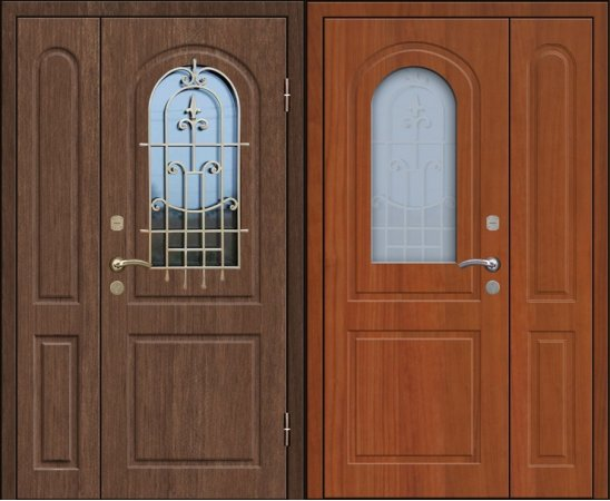 Двухлистовая металлическая дверь - 17-80
