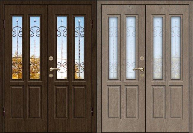 Двухлистовая металлическая дверь - 17-81
