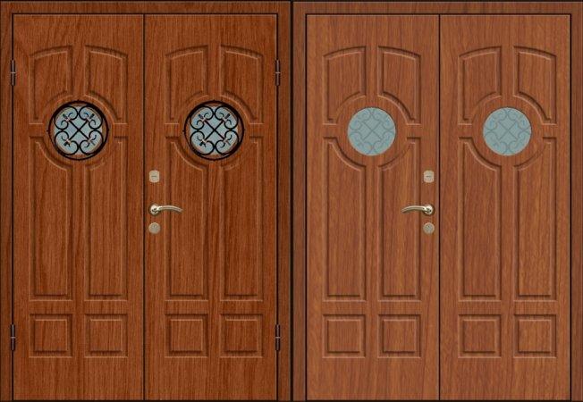Двухлистовая металлическая дверь - 17-82