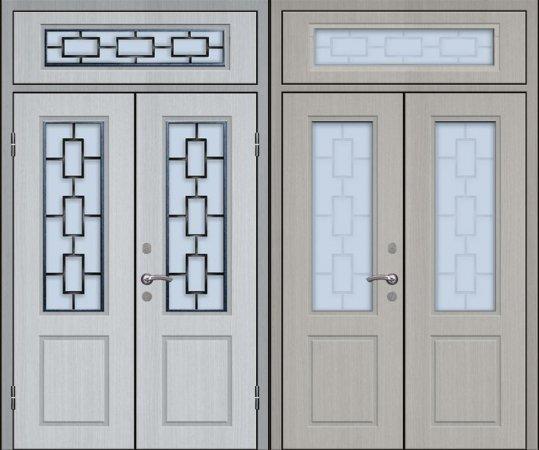 Двухлистовая металлическая дверь - 17-83
