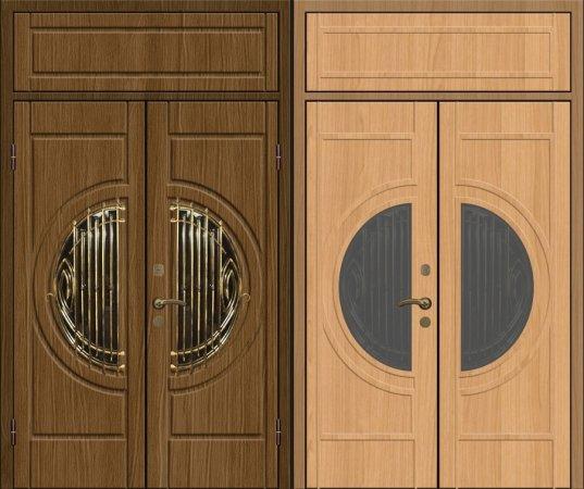 Двухлистовая металлическая дверь - 17-84
