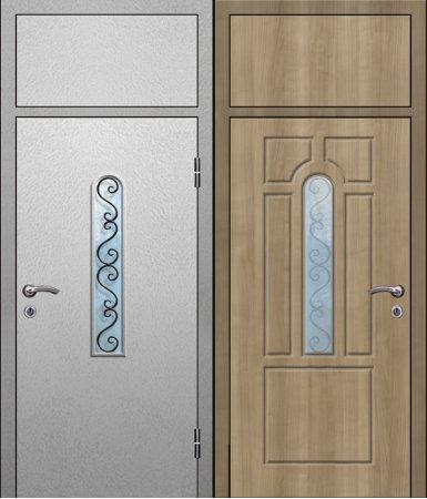Двухлистовая металлическая дверь - 17-88