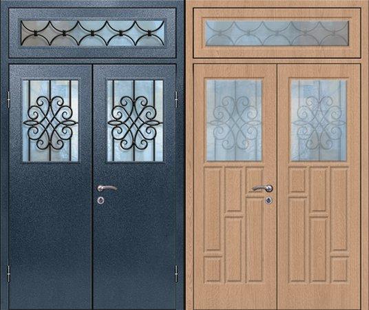 Двухлистовая металлическая дверь - 17-90