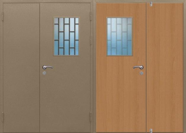 Двухлистовая металлическая дверь - 17-91