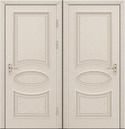 Двухлистовая металлическая дверь - 17-94