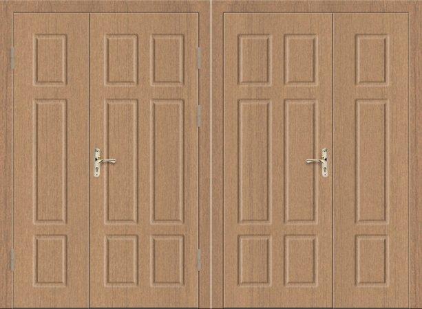 Двухлистовая металлическая дверь - 17-96