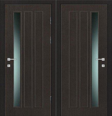 Двухлистовая металлическая дверь - 17-97