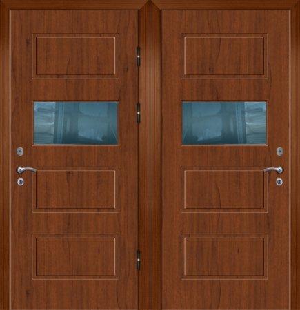 Двухлистовая металлическая дверь - 17-98