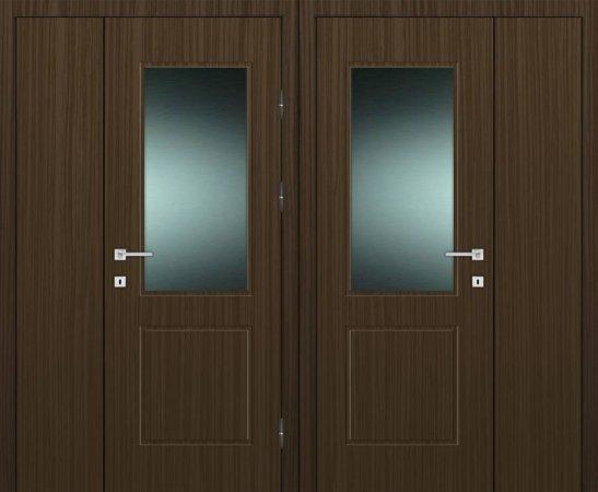 Двухлистовая металлическая дверь - 17-99
