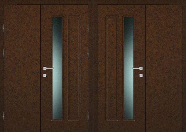 Двухлистовая металлическая дверь - 18-10
