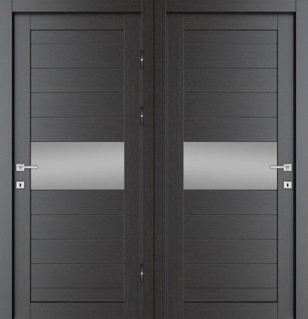 Двухлистовая металлическая дверь - 18-11