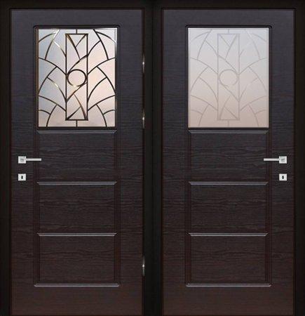 Двухлистовая металлическая дверь - 18-12