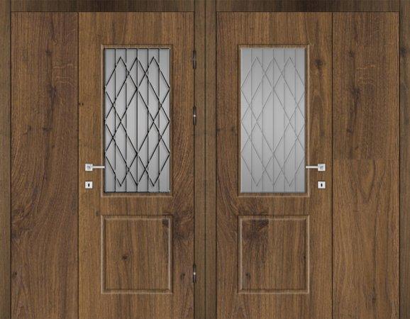 Двухлистовая металлическая дверь - 18-13