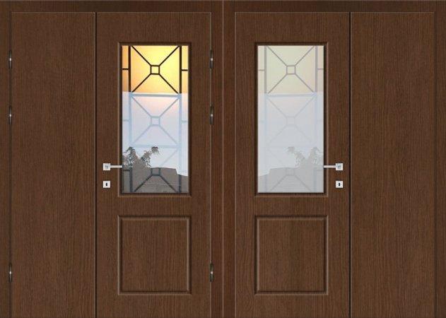 Двухлистовая металлическая дверь - 18-14