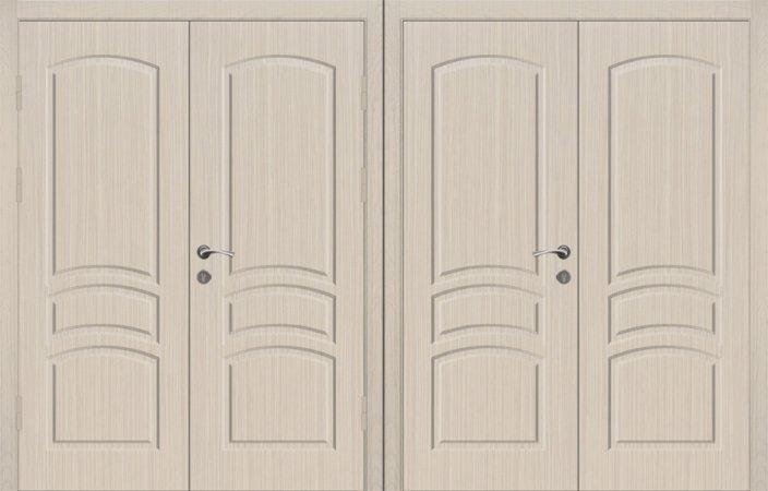 Двухлистовая металлическая дверь - 18-18